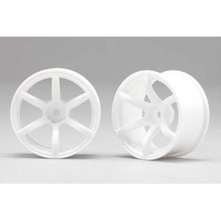 Racing Performer Driftovací disky 6 paprsků 02 (6mm Offset/Bílé/2ks)
