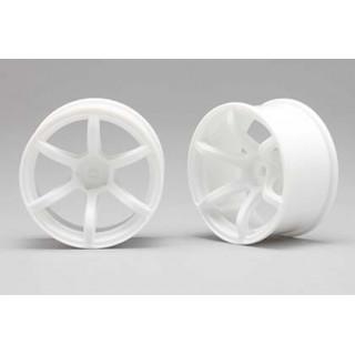 Racing Performer Driftovací disky 6 paprsků 02 (8mm Offset/Bílé/2ks)