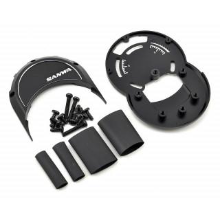 M12/M12S hliníkové díly držáku volantu (černé)