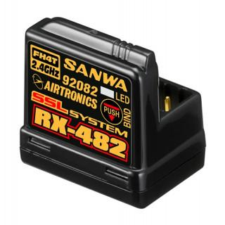 RX-482 přijímač 2.4GHz FH3,FH4, 4-kanál, SSR (telemetrický)