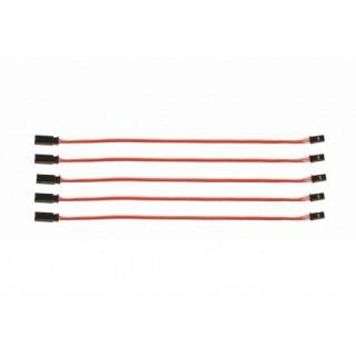 Prodlužovací kabel 150mm JR 0,1qmm silný, zlacené kontakty, 5 ks. (PVC)
