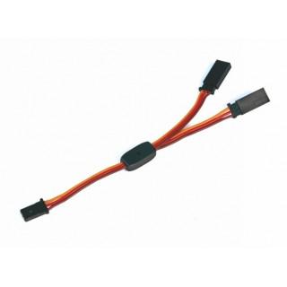 V-kabel 200mm JR 0,3qmm silný, zlacené kontakty (PVC)