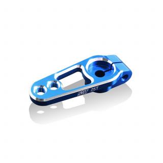 Servo páka hlíníková 19 mm, 25 zubů, modrá