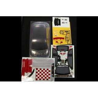 Karoserie čirá, Fiat 500 Abarth, nálepky, příslušenství (200mm)