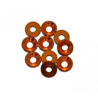3 mm. alu podložky zlaté (10 ks.)