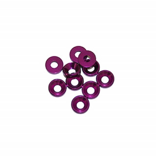 3 mm. alu podložky fialové (10 ks.)