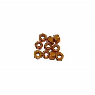 3 mm. alu samojistné matičky zlaté (10 ks.)