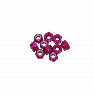 3 mm. alu samojistné matičky růžové (10 ks.)