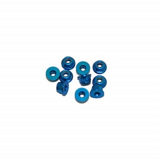 3 mm. alu samojistné matičky s osazením modré (10 ks.)