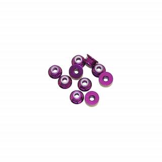 4 mm.alu samojistné matičky s osazením fialové (10 ks.)