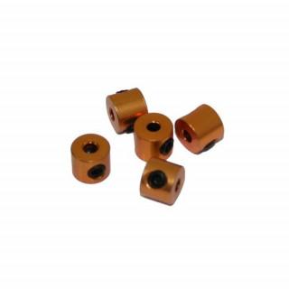 2 mm.alu stavěcí kroužky zlaté (5 ks.)