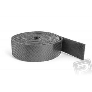 Suchý zip oboustranný 2M x 20mm - černý