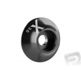 Kovová podložka s O-kroužkem (X logo) 3 mm, černá, 10.ks