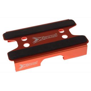 Car-stojánek alu oranžový s mech. protiskluz. proužky pro 1/10 TC podvozky