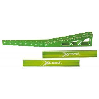 Měřidlo světlé výšky 0 mm do 11 mm ( schodový po 1 mm ) + blok pod šasi 1/10 a 1/8