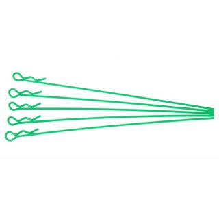 Sponky pro karoserie pro 1/10 - fluorescentní zelená, extra dlouhé (5ks.)