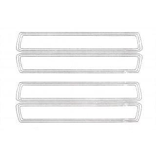 XXX Main - Airbrush šablona - Fatty proužky
