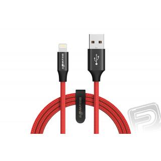 Datový kabel Lightning červený (délka 1,8 m)