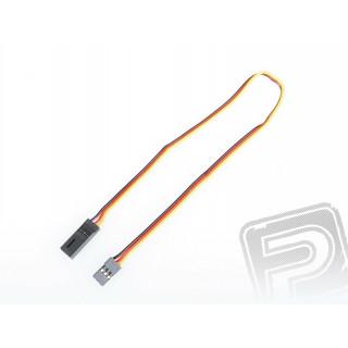 4604 S prodlužovací kabel 300mm JR plochý silný, zlacené kontakty (PVC)