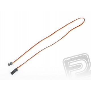 4605 S prodlužovací kabel 600mm JR plochý silný, zlacené kontakty (PVC)