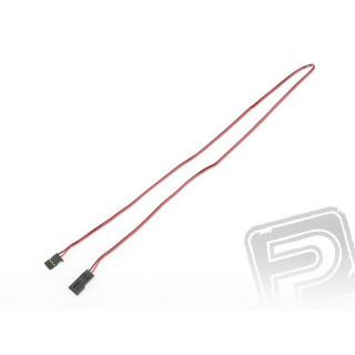 4605 J prodlužovací kabel 600mm Futaba plochý silný, zlacené kontakty (PVC)
