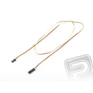 4606 S prodlužovací kabel 900mm JR plochý silný, zlacené kontakty (PVC)