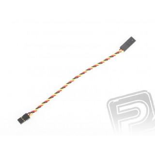 4609 S prodlužovací kabel 150mm JR kroucený silný, zlacené kontakty (PVC)