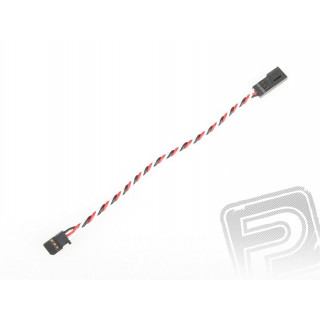 4609 J prodlužovací kabel 150mm Futaba kroucený silný, zlacené kontakty (PVC)