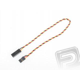 4610 S prodlužovací kabel 300mm JR kroucený silný, zlacené kontakty (PVC)