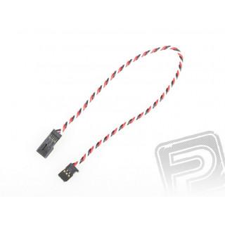 4610 J prodlužovací kabel 300mm Futaba kroucený silný, zlacené kontakty (PVC)