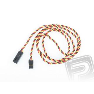4612 S prodlužovací kabel 900mm JR kroucený silný, zlacené kontakty (PVC)