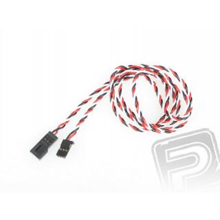 4612 J prodlužovací kabel 900mm Futaba kroucený silný, zlacené kontakty (PVC)