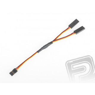 """4701 S """"Y""""-kabel JR plochý silný krátký 150mm (PVC)"""