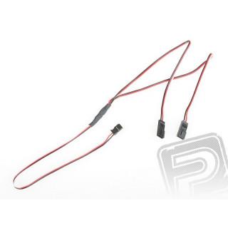 """4702 J """"Y""""-kabel Futaba plochý silný dlouhý 600mm (PVC)"""