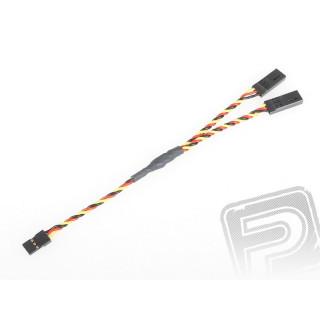 """4703 S """"Y""""-kabel JR kroucený silný krátký 150mm (PVC)"""