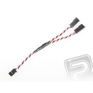 """4703 J """"Y""""-kabel Futaba kroucený silný krátký 150mm (PVC)"""