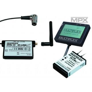 45661 Combo HFMx V2 M-LINK s přij. RX-9DR M-LINK a telemetr. displejem