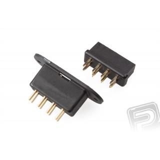 MPX8 konektor černý do křídel (1 pár)