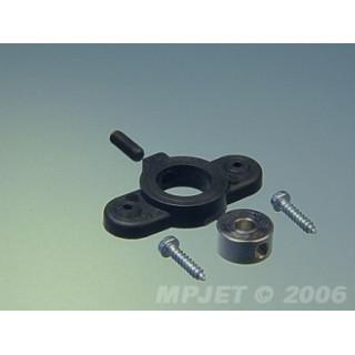 2653 Držák krytu kola pro průměr 5mm Černý 2ks
