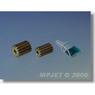 20450 Pastorek 11 zubů, otvor 2mm modul 0,4