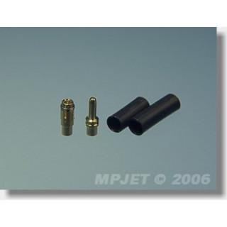 21010 Konektory MP JET gold 1,8 - pár 2 páry