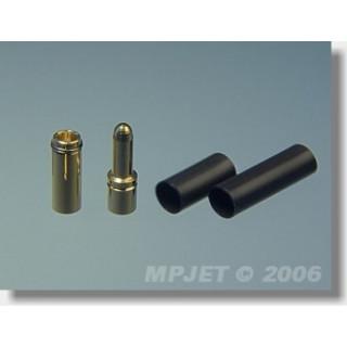 21034 Konektory MP JET gold 3,5 pro drát 4 mm2- 2 páry