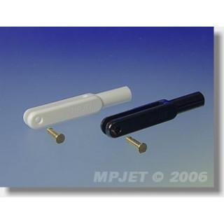 2120 Vidlička plast, l,45 mm, šířka drážky 3, čep pr.2,5, M3 2 ks