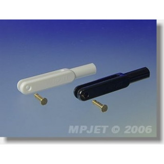2121 Vidlička plast, l,45 mm, šířka drážky 3, čep O 2,5, M3 Černá 10 ks