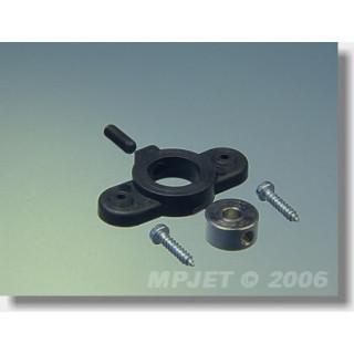 2650 Držák krytu kola pr.3mm Černý 2 ks