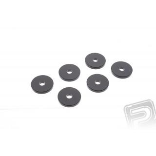 Podložky k motoru - průměr 20mm tloušťka 3mm (6ks)