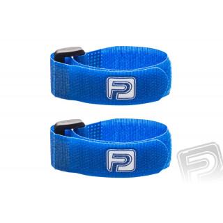 Stahovací pásky se suchým zipem 20cm PELIKAN (2ks) modré