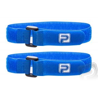 Stahovací pásky se suchým zipem 30cm PELIKAN (2ks) modré