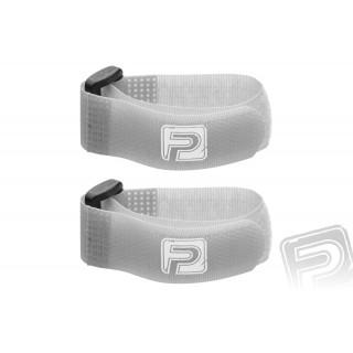 Stahovací pásky se suchým zipem 20cm PELIKAN (2ks) šedé