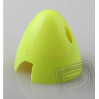 Fluor.kužel 50mm žlutý 2-listý